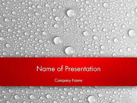 Water Drops Background PowerPoint Template, Backgrounds 12619 - water droplets background