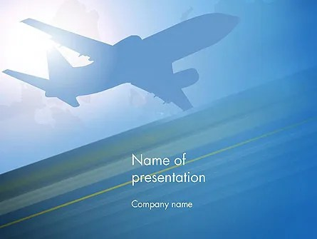 Airport Transfer PowerPoint Template, Backgrounds 12733