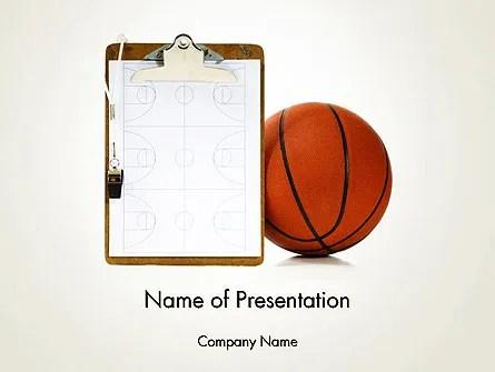 Basketball Coach PowerPoint Template, Backgrounds 12801 - basketball powerpoint template