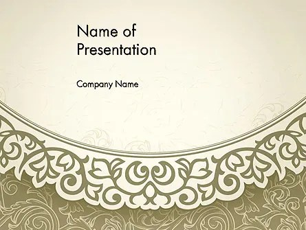 Vintage Pattern Paper Cut PowerPoint Template, Backgrounds 12842