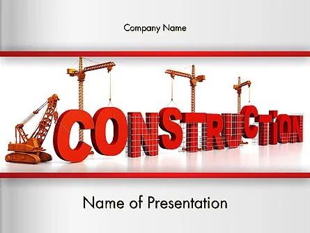 Building Construction PowerPoint Template, Backgrounds 13007