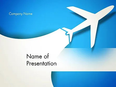 Plane Illustration PowerPoint Template, Backgrounds 13043