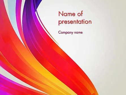 Phoenix Tail Abstract PowerPoint Template, Backgrounds 13069