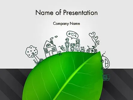 Green Environment Concept PowerPoint Template, Backgrounds 13072