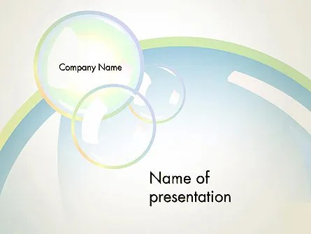 Abstract Soap Bubbles PowerPoint Template, Backgrounds 13143 - bubbles power point