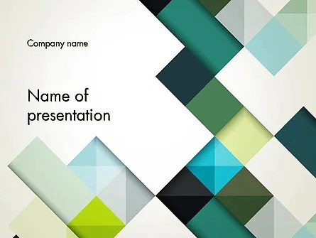 Tilted Grid Layout Abstract PowerPoint Template, Backgrounds 13187