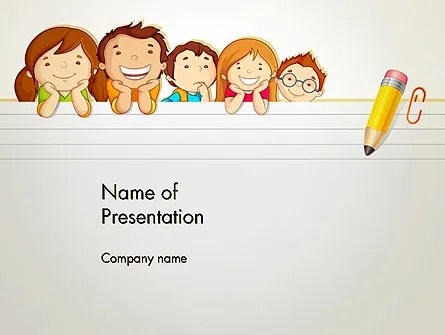 Back to School with Kids PowerPoint Template, Backgrounds 13195