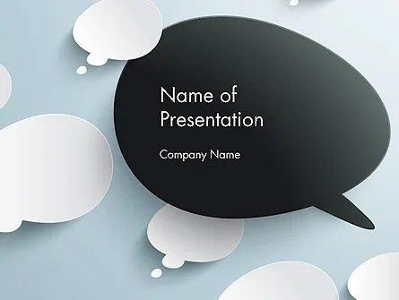 Opposing Speech Bubbles PowerPoint Template, Backgrounds 13232 - bubbles power point