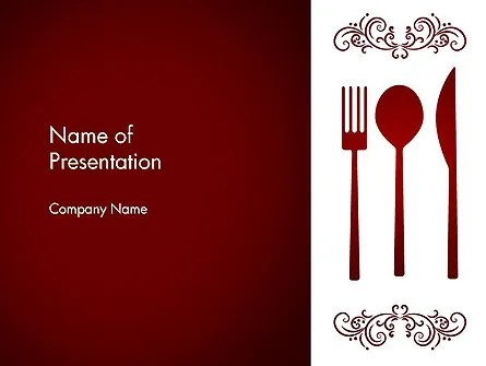 Restaurant Presentation PowerPoint Template, Backgrounds 13356