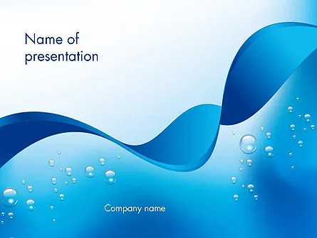 Abstract Sparkling Water PowerPoint Template, Backgrounds 13460 - water powerpoint template