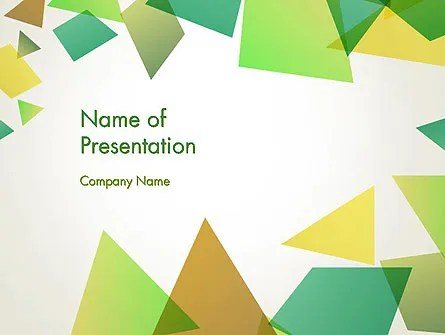 Geometric Patches Abstract PowerPoint Template, Backgrounds 13557