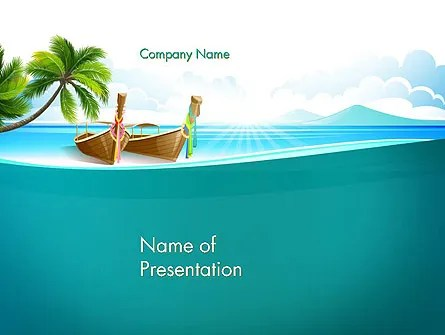 Tropical Island PowerPoint Template, Backgrounds 13568 - summer powerpoint template