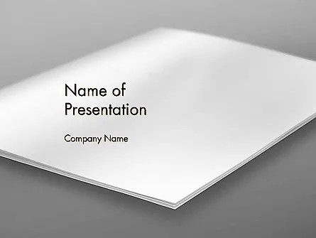 Blank Brochure on White Background PowerPoint Template, Backgrounds - blank brochure
