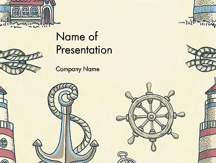 Nautical Vintage PowerPoint Template, Backgrounds 13691 - powerpoint backgrounds vintage