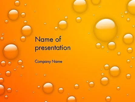 Orange Water Bubbles PowerPoint Template, Backgrounds 13847