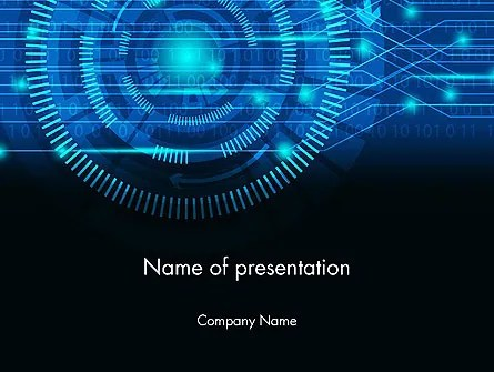 Digital Technology Abstract PowerPoint Template, Backgrounds 13872