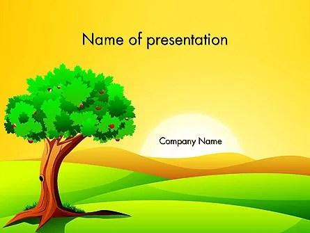 Landscape Summer PowerPoint Template, Backgrounds 14024