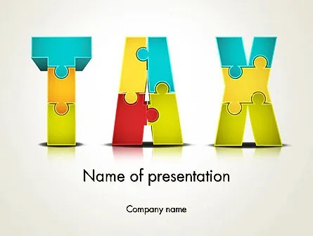 Tax Puzzle PowerPoint Template, Backgrounds 14058