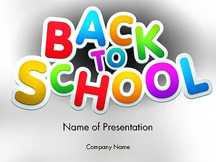 Welcome Back To School PowerPoint Template, Backgrounds 14097 - welcome back template