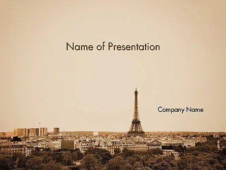 Destination France PowerPoint Template, Backgrounds 14105 - history powerpoint template