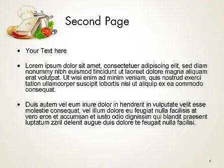 Cookbook PowerPoint Template, Backgrounds 14209 PoweredTemplate