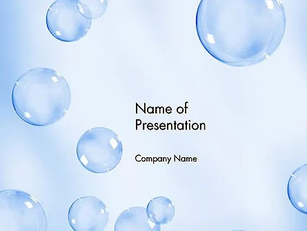 Water Bubbles PowerPoint Template, Backgrounds 14231