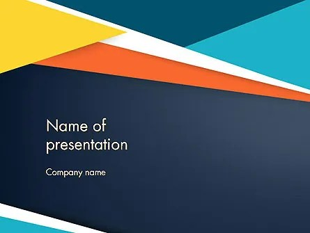 Geometric Shapes Abstract PowerPoint Template, Backgrounds 14248