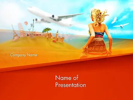 Hello Summer PowerPoint Template, Backgrounds 14306