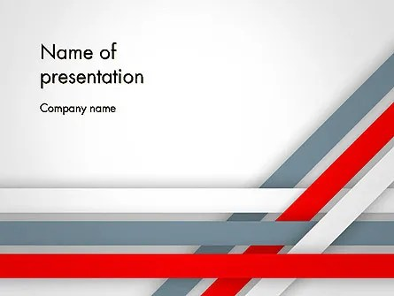 Angle Stripes Border PowerPoint Template, Backgrounds 14388