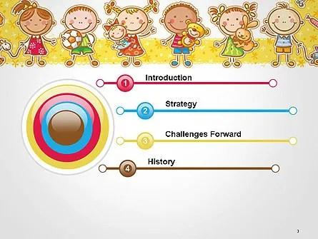 Plantilla de PowerPoint - marco con juguetes de dibujos animados