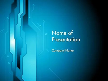 Abstract Technology Circuit Board PowerPoint Template, Backgrounds
