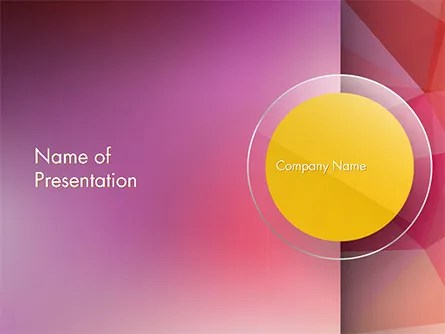 Yellow Circle on Pink Background PowerPoint Template, Backgrounds
