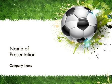 Splash Football Background PowerPoint Template, Backgrounds 14706 - sports background for powerpoint