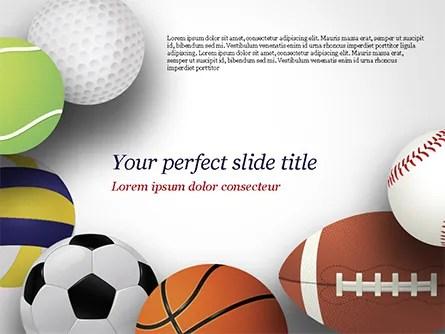 Different Sport Balls PowerPoint Template, Backgrounds 15023