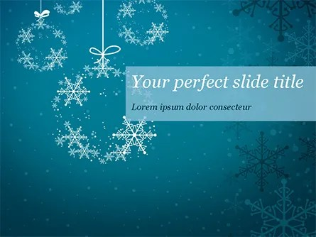 Snowflakes Crystal Balls PowerPoint Template, Backgrounds 15367