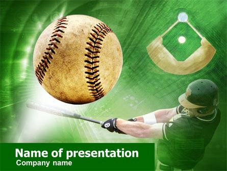 Baseball Hit Presentation Template for PowerPoint and Keynote PPT Star