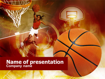 Women\u0027s Basketball Presentation Template for PowerPoint and Keynote