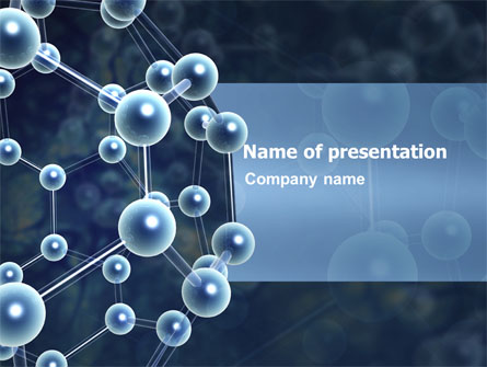 Molecular Structure Presentation Template for PowerPoint and Keynote - scientific ppt background