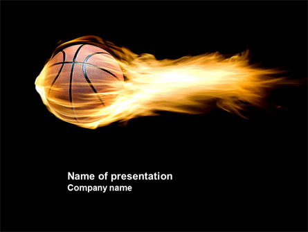 Flaming Basketball Presentation Template for PowerPoint and - basketball powerpoint template