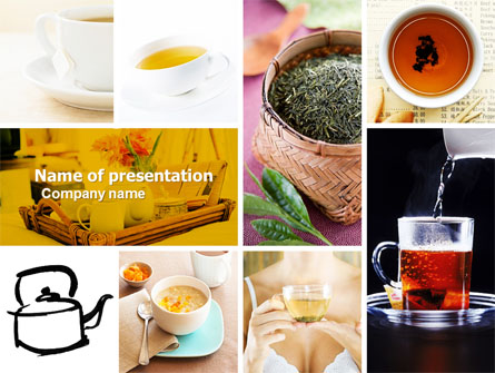 Tea Collage Presentation Template for PowerPoint and Keynote PPT Star