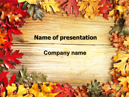 Autumn Leaves Frame Presentation Template for PowerPoint and Keynote