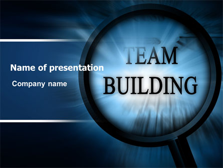Team Building Theme In A Deep Blue Presentation Template for