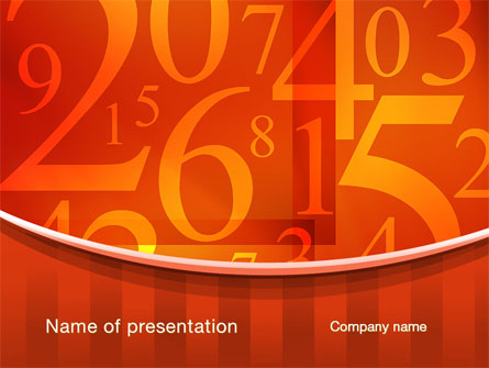 Math Numbers Presentation Template for PowerPoint and Keynote PPT Star