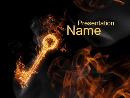 Fire Key Presentation Template for PowerPoint and Keynote PPT Star