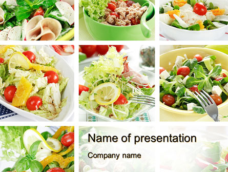 Salad Recipes Presentation Template for PowerPoint and Keynote PPT