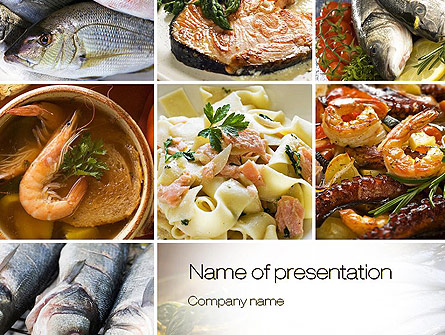 Sea Food Recipes Presentation Template for PowerPoint and Keynote
