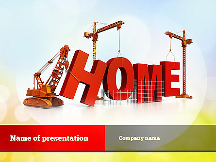 Building Home Concept Presentation Template for PowerPoint and