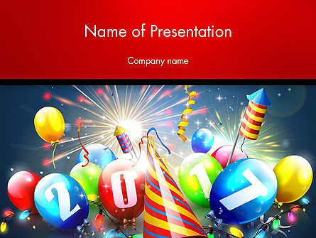 Happy New Year 2017 Presentation Template for PowerPoint and Keynote