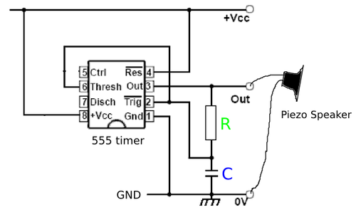 how to build a simple thermistor circuit