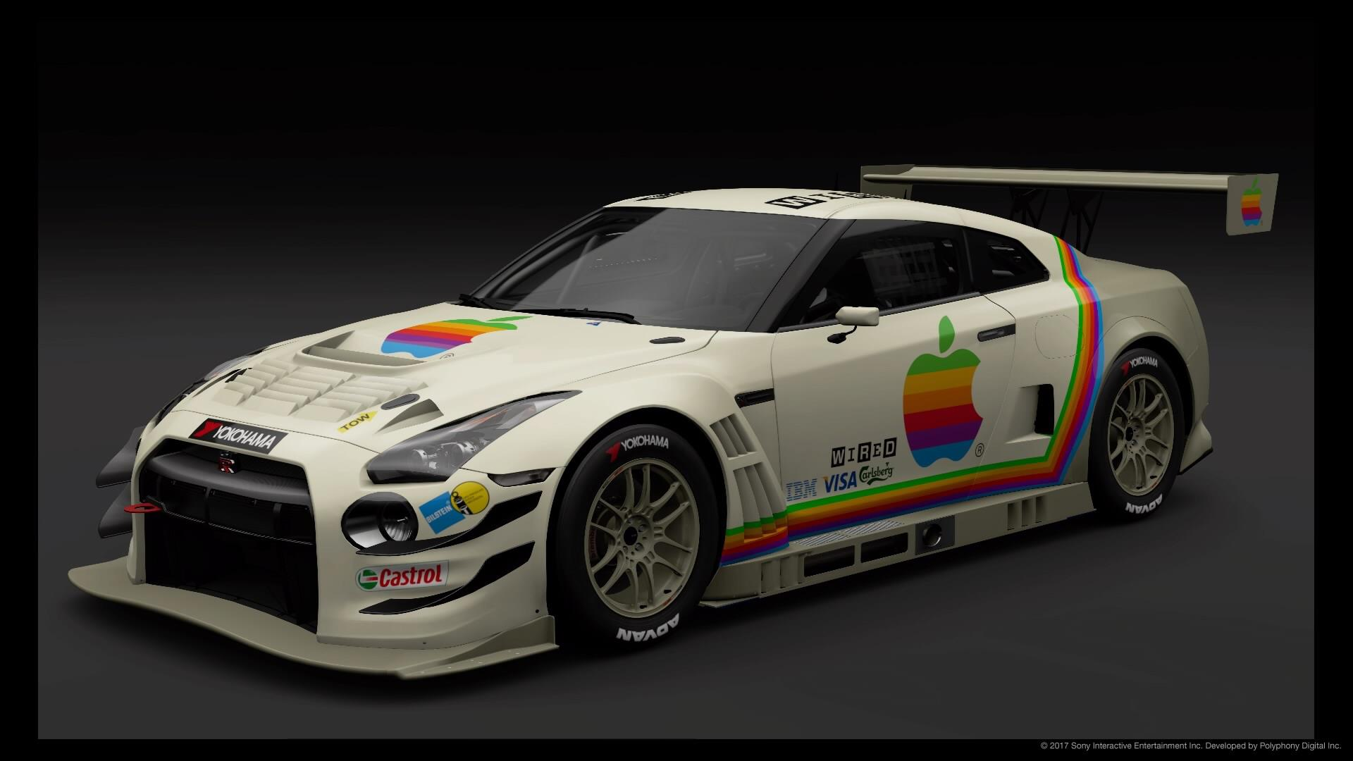 N24 Now Retro Apple Livery For Nissan Gt R Nismo Gt3 N24 Schulze